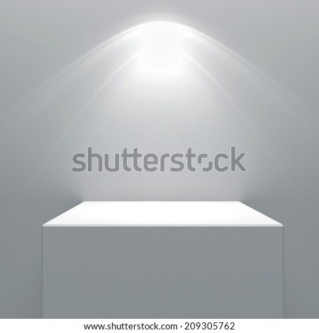 Blank wall and lamp