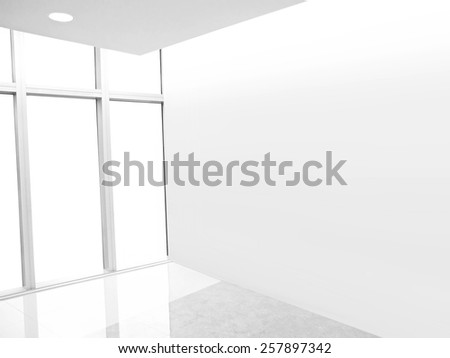 Blank wall in empty room - stock photo
