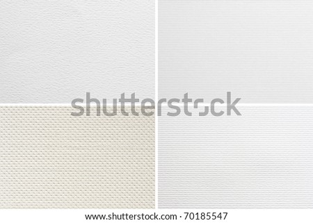 Blank watercolor paper textures set - stock photo
