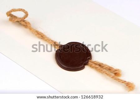 Blank wax seal - stock photo