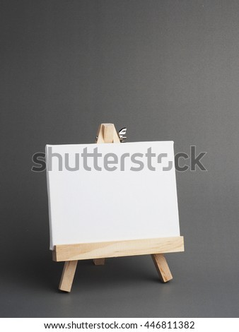 Blank white board on gray background design.