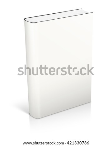blank white book cover - put your own design on it! 3D illustration.