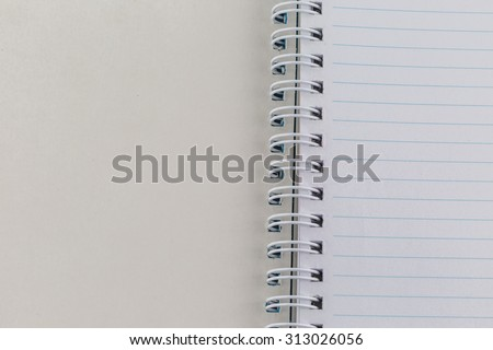 blank white book on white paper background