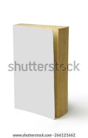 Blank white book w/path - stock photo