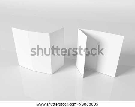 Blank white booklet template - stock photo