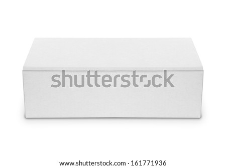 blank white box isolated over white background. ready for your design - stock photo