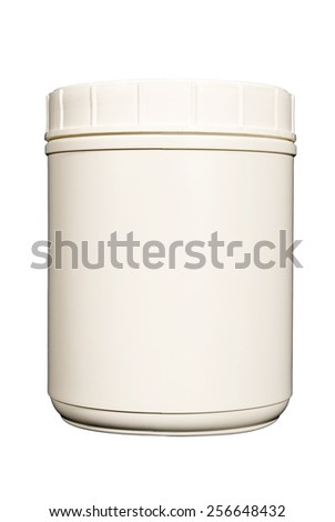 Blank White Canister For Your Copy Isolated On White Background
