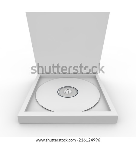 Blank white form - drive in the box. Isolated background - stock photo
