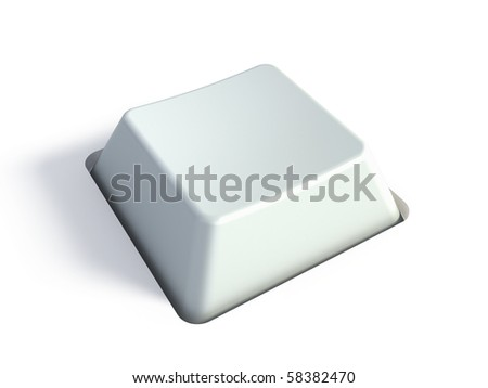Blank white key - stock photo
