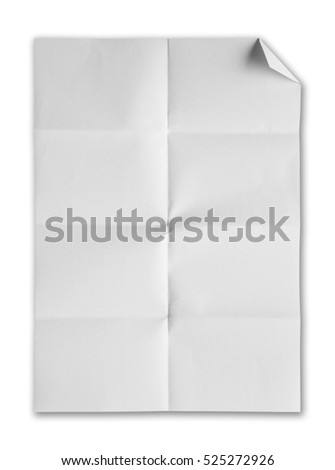 Blank white paper isolate on white background