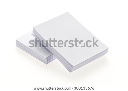 Blank white paper isolated on white background - stock photo