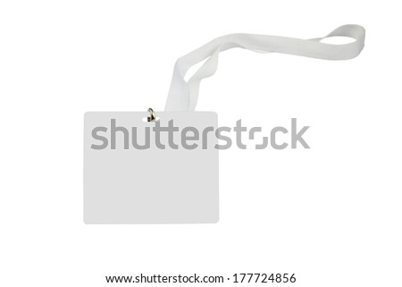 Blank white pass card isolated on white background - stock photo