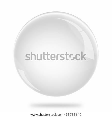 Blank White Sphere Float - stock photo