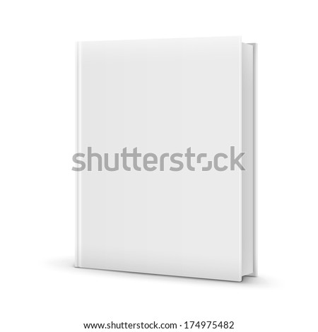Blank White Standing Book Template - stock photo