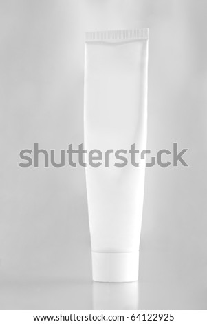 Blank white tube - stock photo