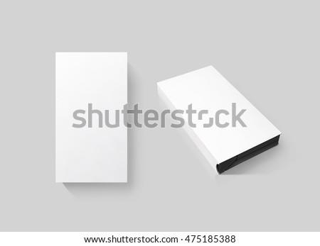blank white video cassette tape box stock illustration. Black Bedroom Furniture Sets. Home Design Ideas