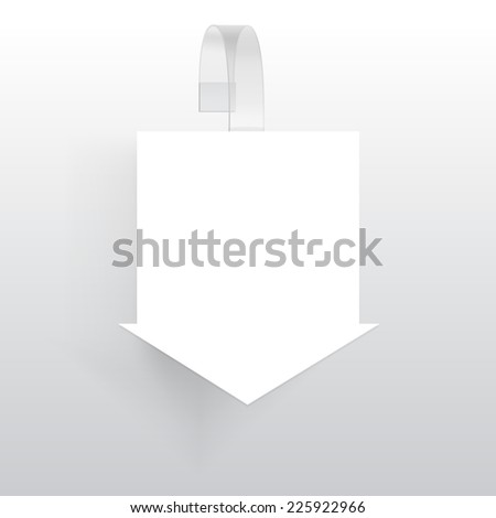 Blank Wobbler with Transparent Strip Isolated on a White Background