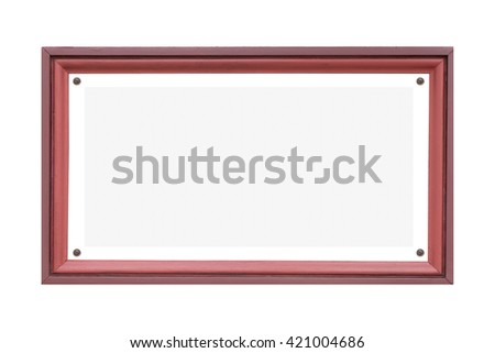 Blank wood name plate isolated on white background