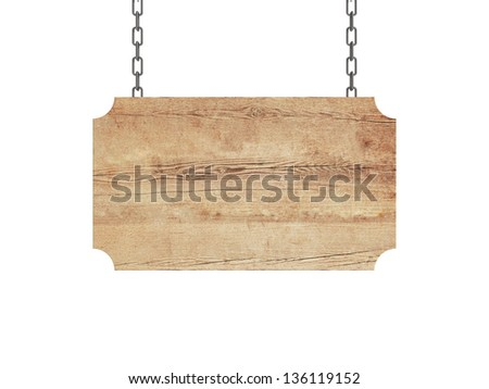 blank wood plate on chain