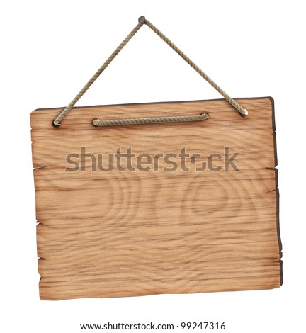 Blank wooden board - stock photo