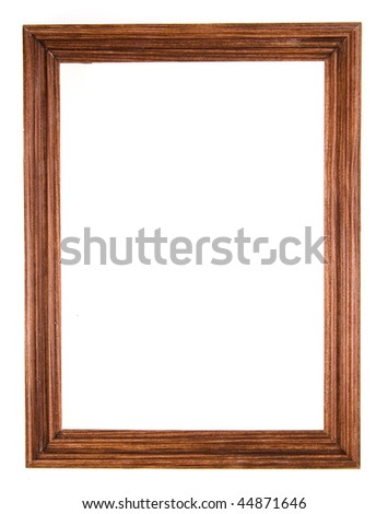 blank wooden frame isolated on white  background - stock photo