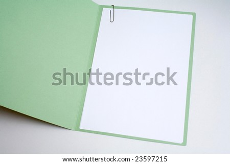 Blank work paper cover for writing, and graphics - stock photo