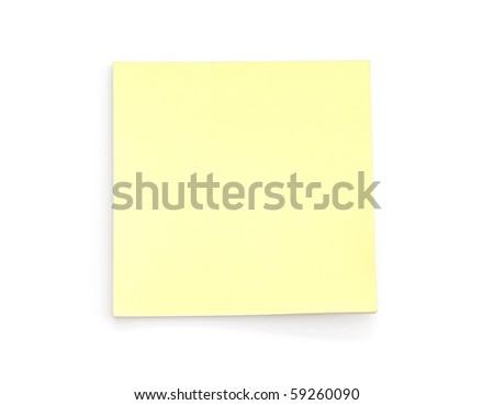 Blank Yellow Post-it Note - stock photo