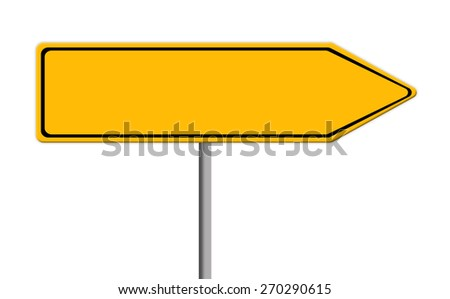 blank yellow road sign template text stock illustration 270290615 shutterstock. Black Bedroom Furniture Sets. Home Design Ideas