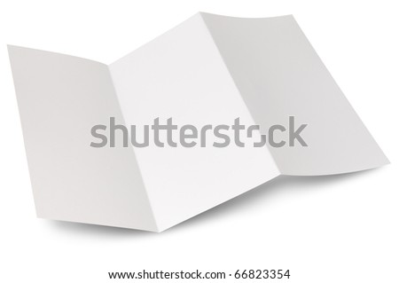 Blank zigzag folded flyer - stock photo