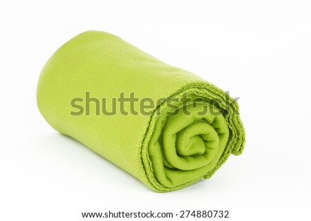 Blanket on bright background - stock photo