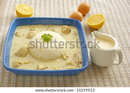 Blanquette of chicken - stock photo