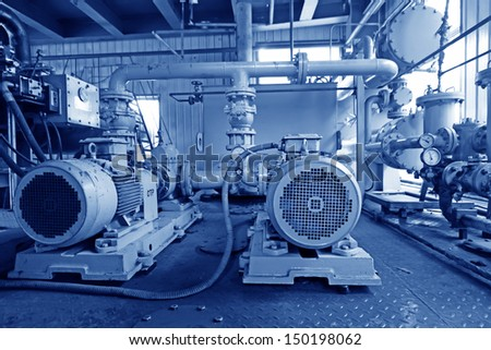 blast furnace TRT hydraulic system in a power generation plant, in an iron and steel enterprise, north china  - stock photo