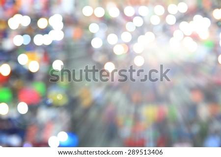 Blast sparkler light at flare market - stock photo