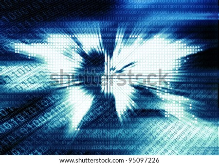 Blasting world map dot background cool stock illustration 95097226 blasting world map dot background cool images for information technology internet and technology background gumiabroncs Choice Image