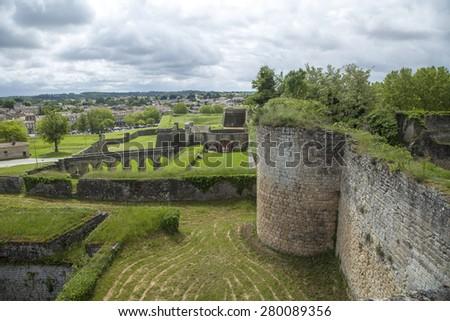blaye chateau in the Gironde - stock photo
