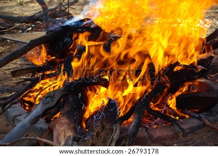 Blazing Bonfire - stock photo