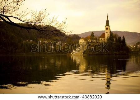 Bled lake, Slovenia - stock photo