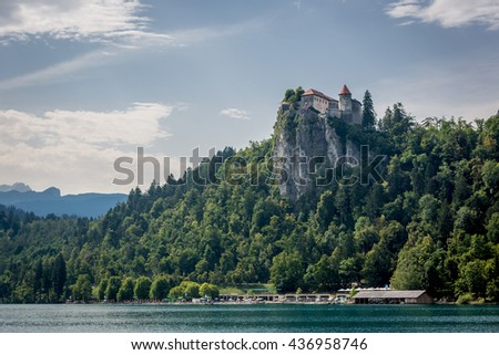 Bled, Slovenia - July 12th 2014 - Nice nature scenario in the lake of Bled, Slovenia.