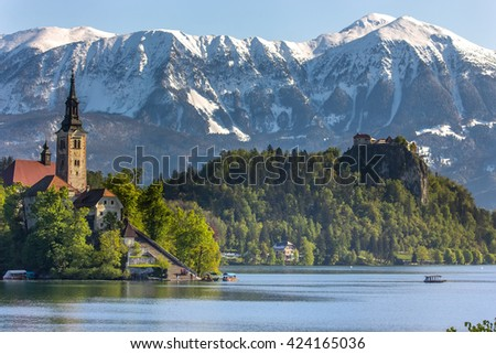 Bled, Slovenia - small church on the island
