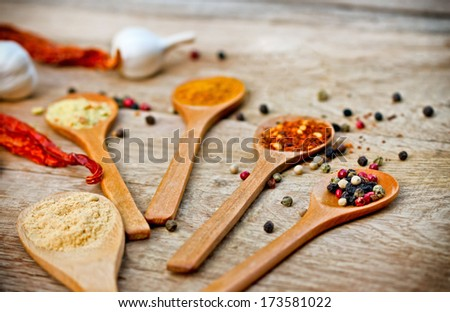 Blend of spices  - variety of spices