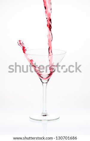 Blended cocktail splash
