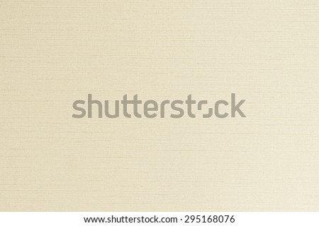 Blended cotton silk fabric textile wallpaper texture pattern background in light cream beige color tone   - stock photo
