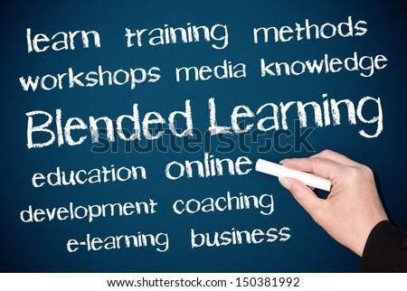 Blended Learning - stock photo