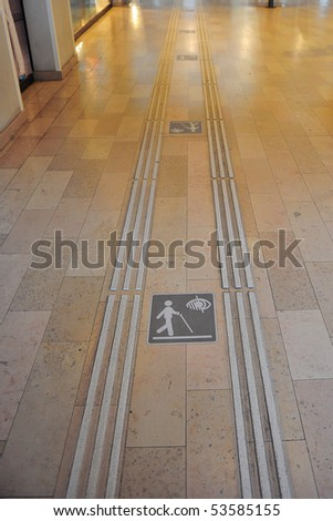 blind person walk - stock photo