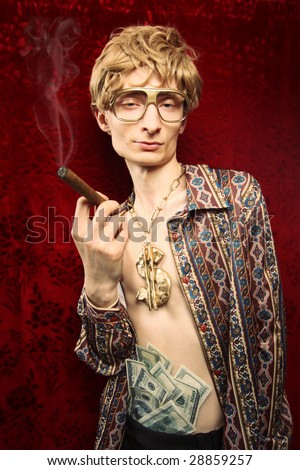 Bling bling dude - stock photo