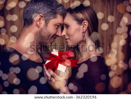 bling couple on 14th february - stock photo