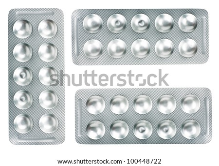 blister isolated - stock photo