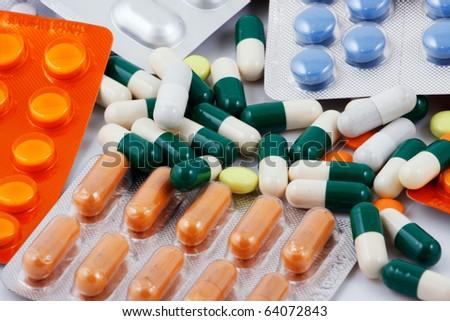 Blister Packs Of Pills - stock photo