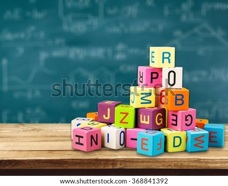 Block alphabet. - stock photo
