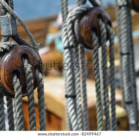 Block and tackle - stock photo
